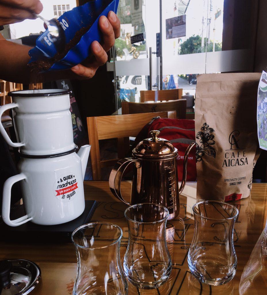 Traditional Peruvian Coffee Drip Method
